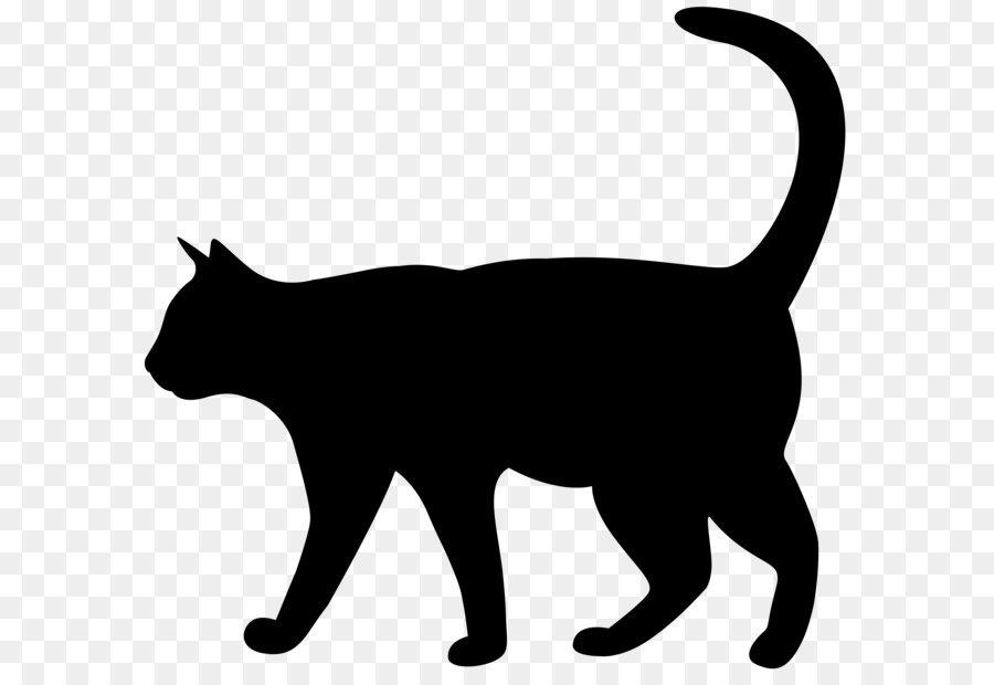900x620 Cat Silhouette Kitten Clip Art