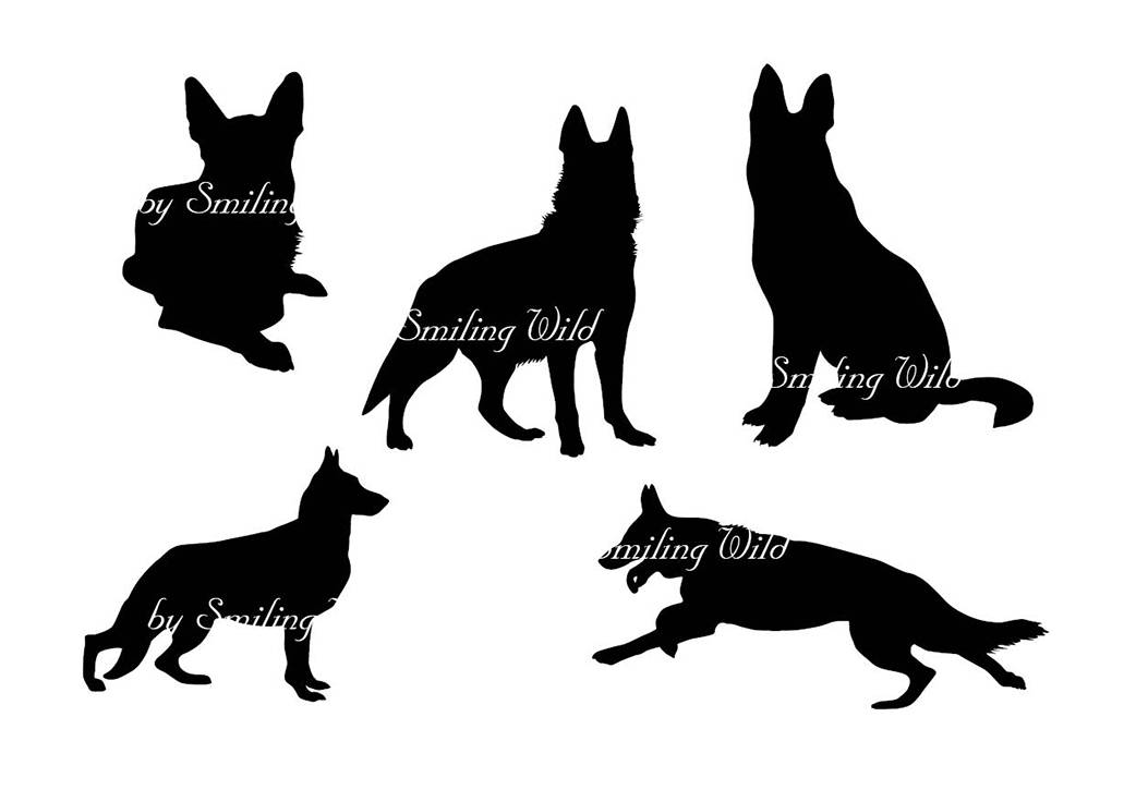 1042x736 German Shepherd Silhouette Svg Clipart Hound Dogs For Scrapbooking
