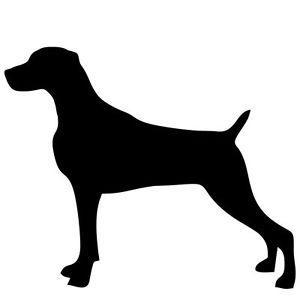 300x300 New Weimaraner Dog Silhouette Sticker Dogs Breed Stickers Car