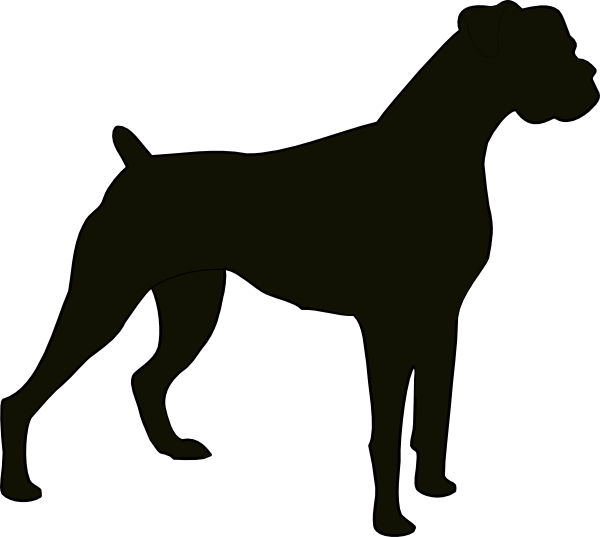 600x537 Boxer Dogs Clipart