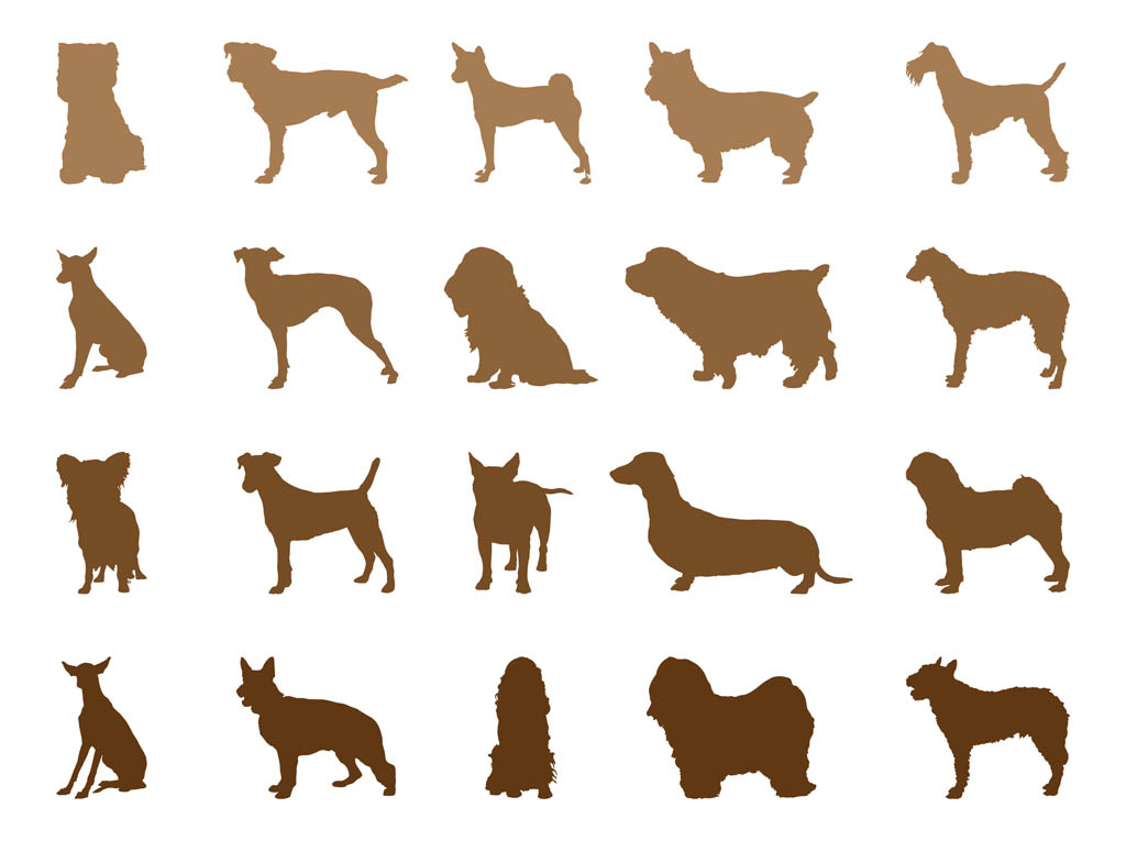 1024x765 Dog Breeds Silhouettes Vector Art Amp Graphics