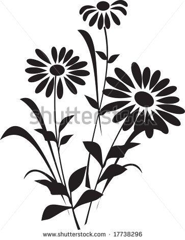 363x470 Flower (Silhouette)