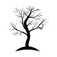 200x200 Collection Of Silhouette Trees Vector Image