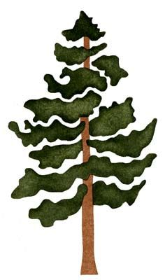 236x400 Pine Tree Silhouette Clip Art Cliparts Accent Wall Mural 2