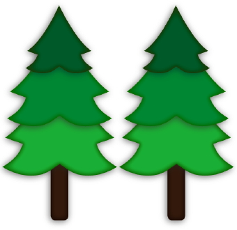 340x330 Pine Trees Clipart