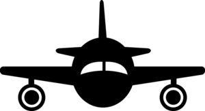 300x163 Plane Silhouette Clipart Image