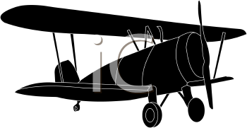 350x181 Silhouette Plane Clipart Collection