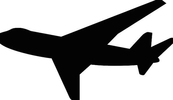 596x344 Airplane, Vacation, Plane, Travel, Silhouette, Outline, Jet