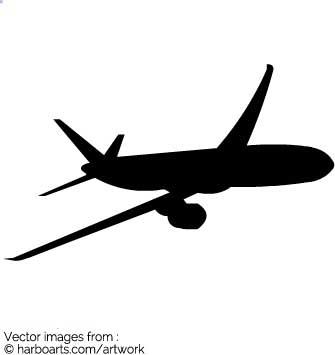 335x355 Download Plane Silhouette