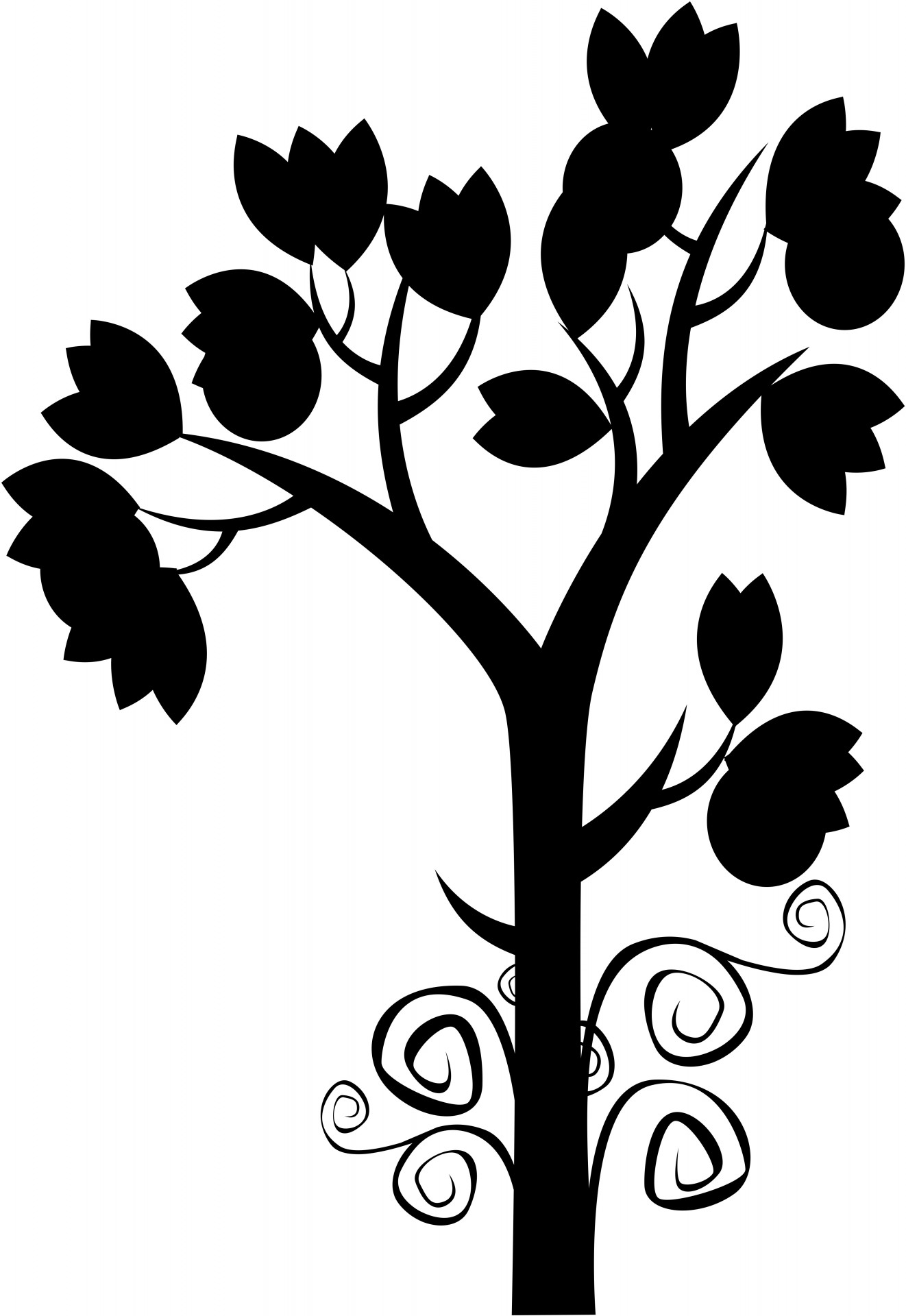 1322x1920 Silhouette Of A Plant Free Stock Photo