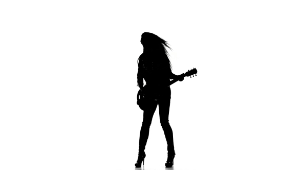 590x332 Girl Playing Guitar Silhouette 1 By Kinomaster Videohive