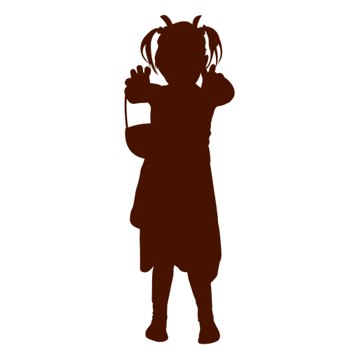 512x512 Girl Play Silhouette