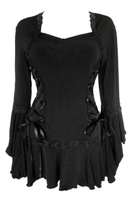 267x401 Plus Size Bolero Corset Top In Black
