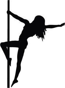 Silhouette Pole Dancers