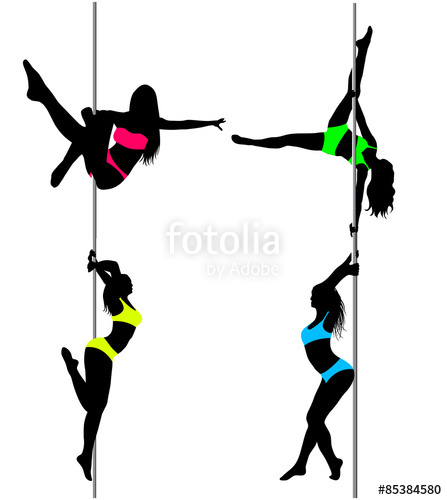 447x500 Pole Dancer In Pole Dance Superman. Isolated Stock Image