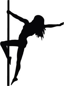 224x300 Pole Dancer Silhouette Clip Love Pole Dance