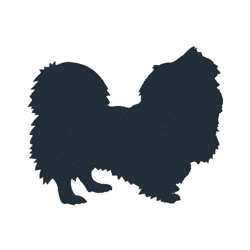 500x500 Pekingese Silhouette Machine Embroidery Design Dog Embroidery