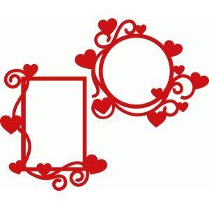 300x300 Heart Flourish Frames Flourish, Cricut And Silhouette Design