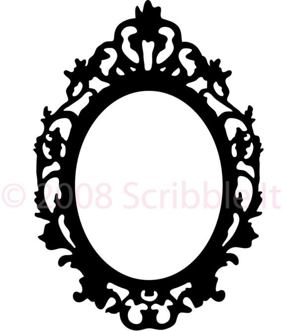 570x669 Vintage Oval Frame Wall Decal By Scribbleit On Etsy Party Ideas