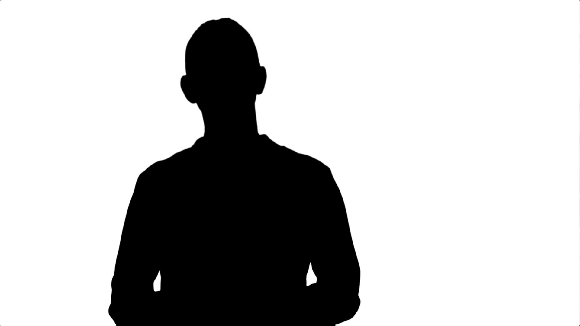1920x1080 Silhouette Portrait Of A Young Business Woman Presenting Something