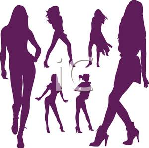 300x298 Colorful Silhouette Of Sensual Models In Various Poses