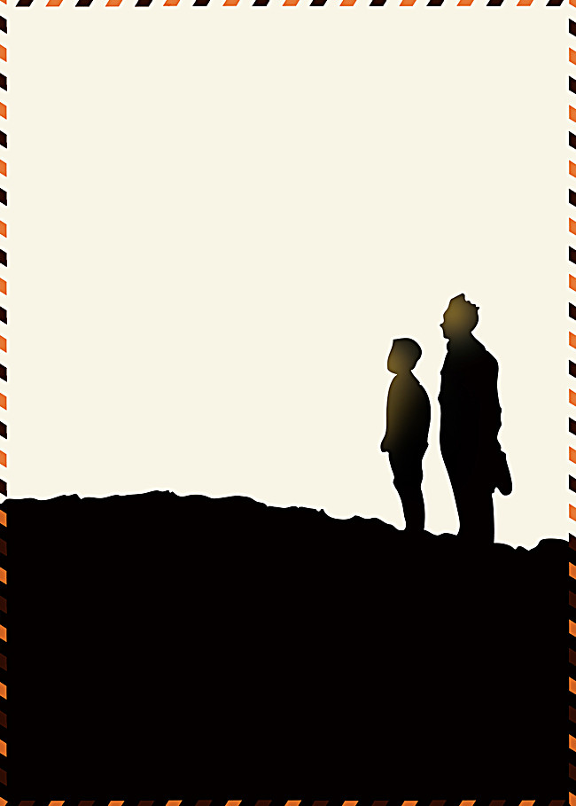 650x909 Father And Son Silhouette Poster Background, Father And Son