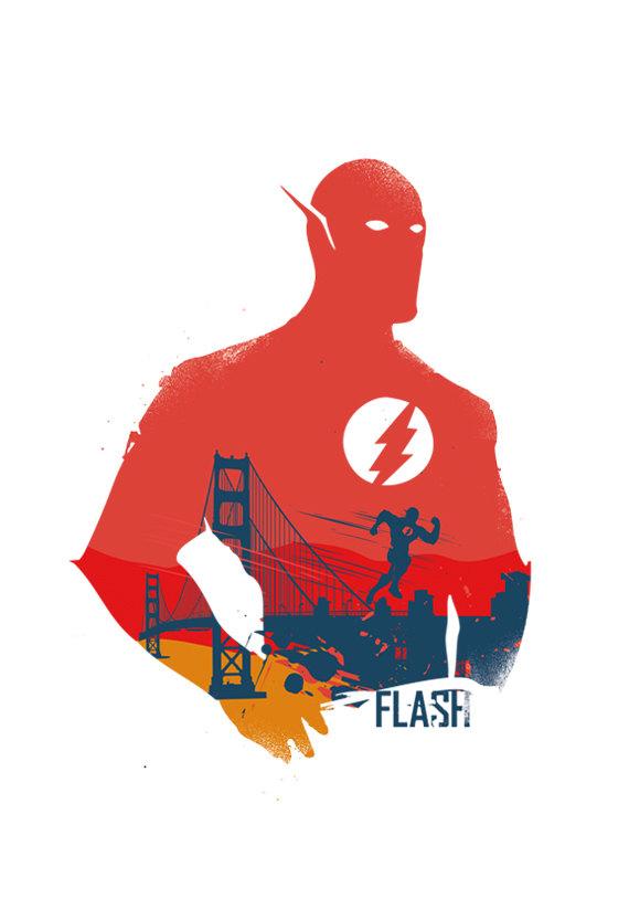 570x833 Flash Superhero Poster Design Different Sizes By 2toastdesign