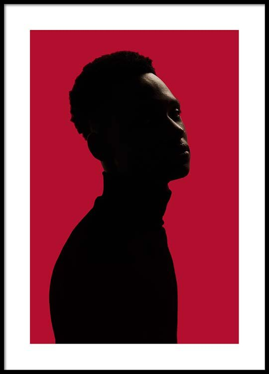 540x750 Man Silhouette On Red No2 Poster