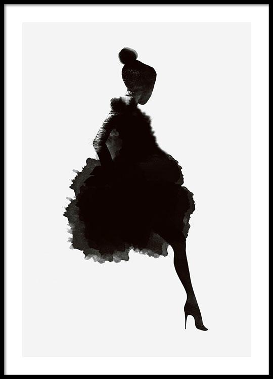 540x750 Modern Art Poster With Woman Graphic Poster Scandinavian Design