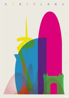 236x334 Yoni Alter's Colorful City Silhouette Prints Illustrations
