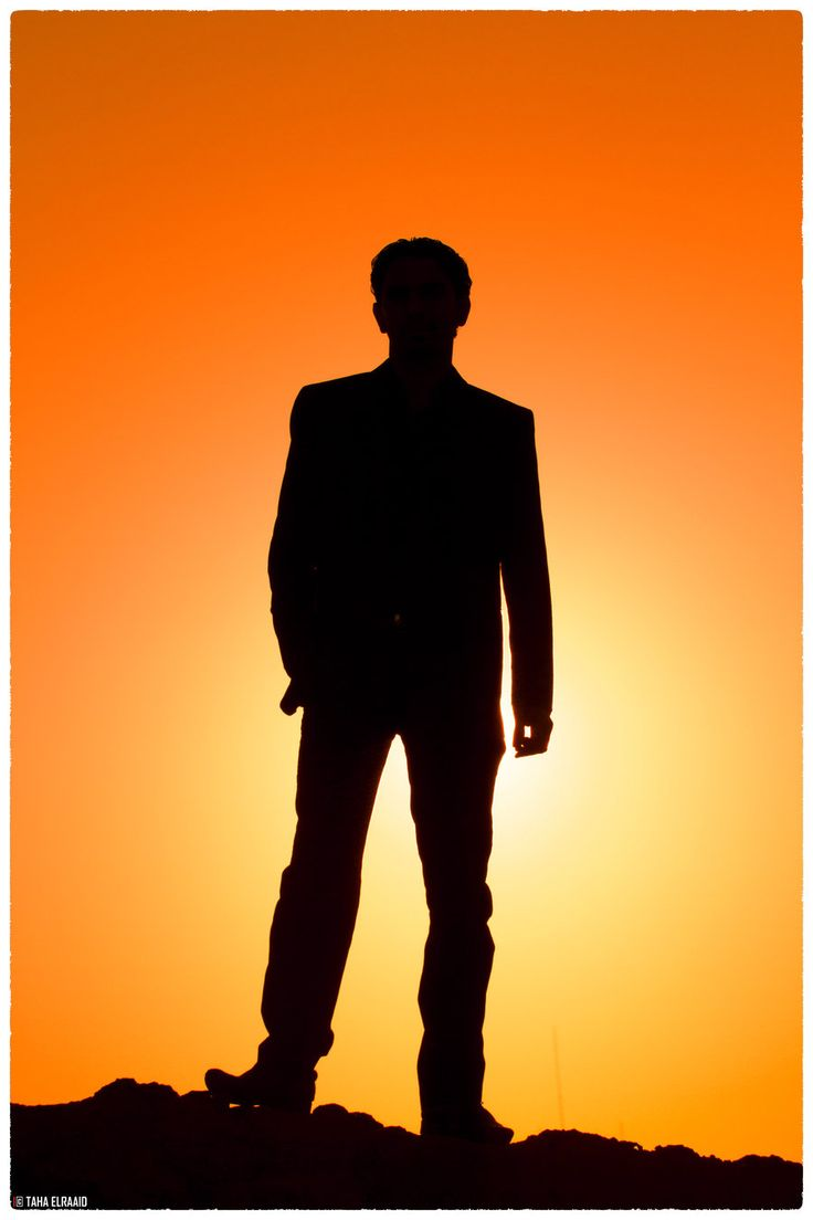 736x1104 Silhouette Of A Man