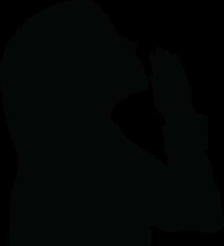 436x479 Girl Praying Silhouette Clipart 3 Vinyl Lettering Ideas