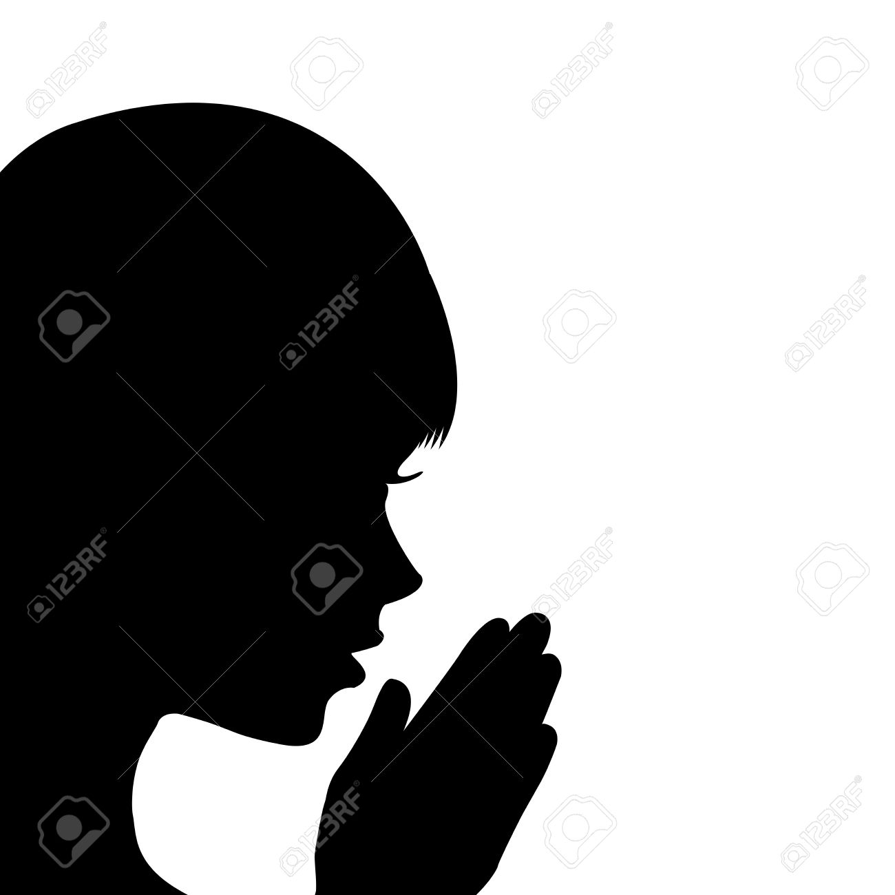 1300x1300 Child Praying Bed Silhouette Clipart
