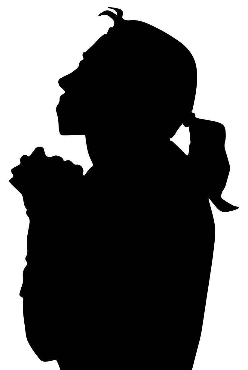825x1229 Woman Praying Silhouette 2 Clipart