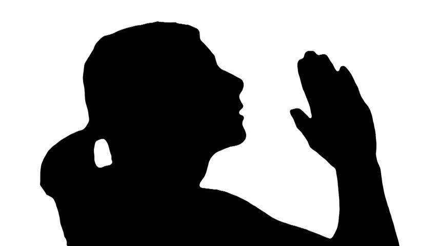 852x480 Woman Prays In Silhouette V3