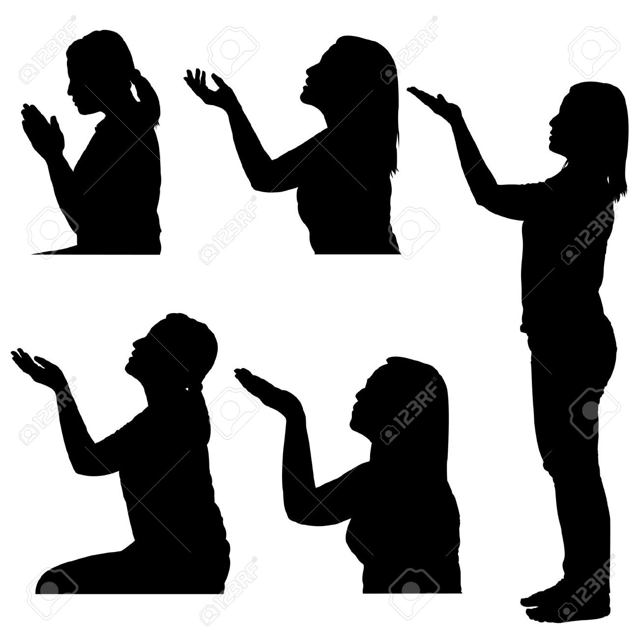 1300x1300 Clipart Of Praying Woman