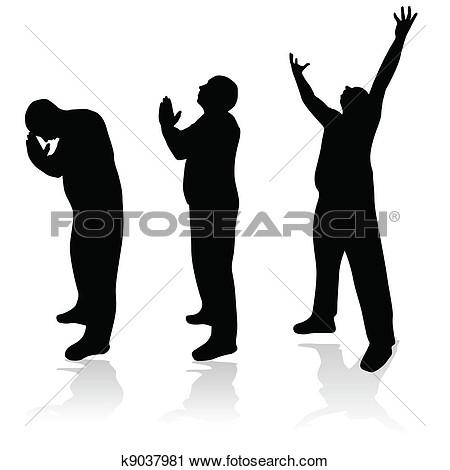 Silhouette Praying Hands