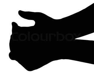 320x249 Silhouette Vector Praying Hands (Front View) On White Stock