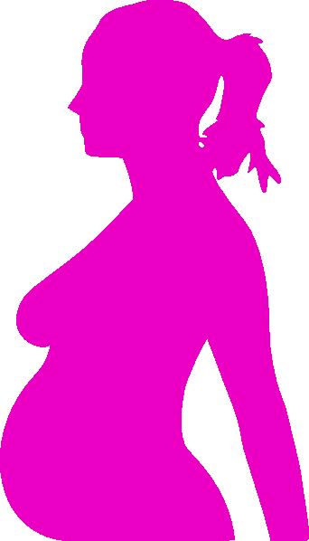 342x598 Pregnancy Silhouette 3 Clip Art