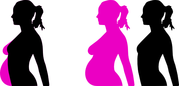 600x289 Pregnancy Silhouette 5 Clip Art