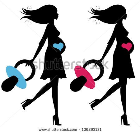 450x426 Pregnant Woman Silhouette Umbrella Clipart