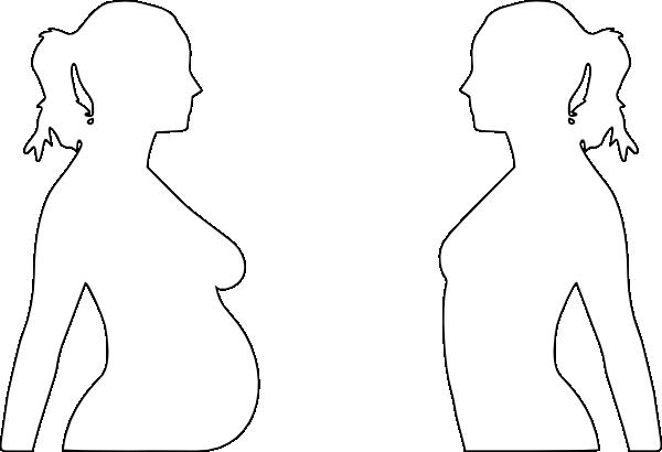 600x410 Pregnant Woman Silhouette