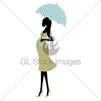 325x325 Pregnant Woman Umbrella(Pink) Gl Stock Images