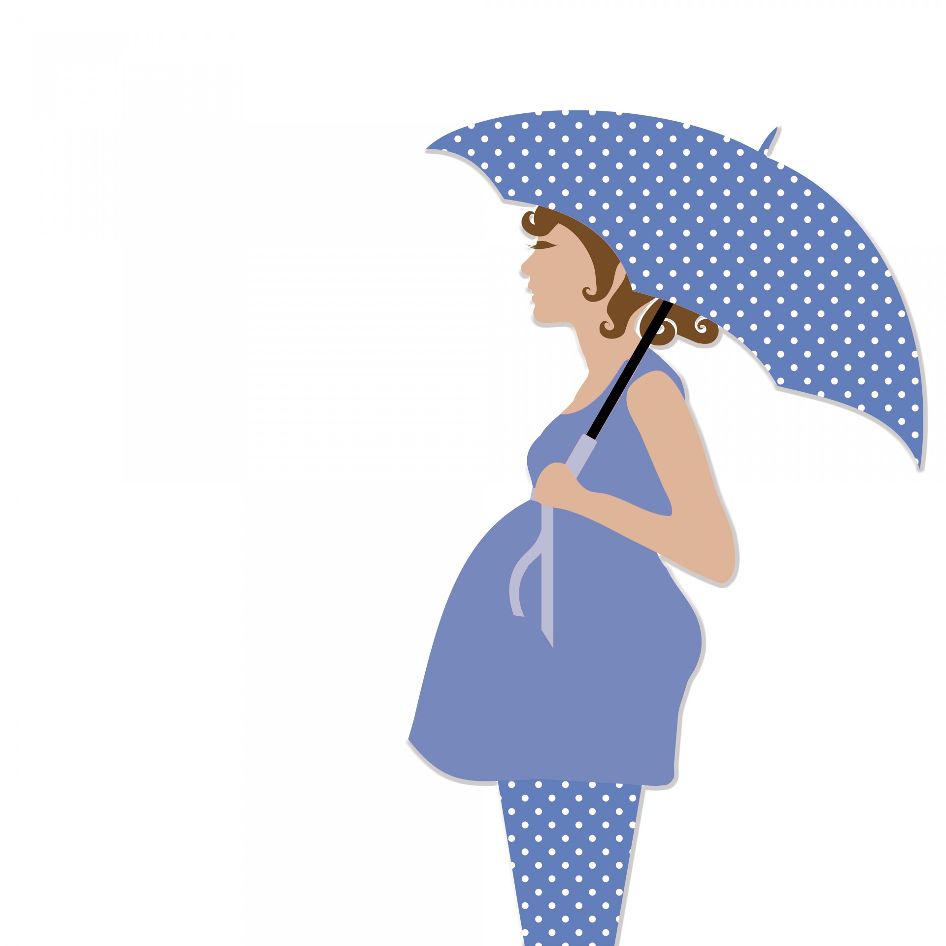 1920x1920 Pregnant Woman With Umbrella Free Stock Photo