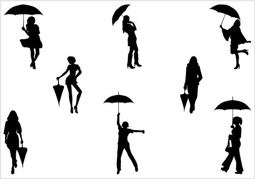 502x352 Umbrella Silhouette Clip Art Pregnant Silhouette Umbrella Clip Art