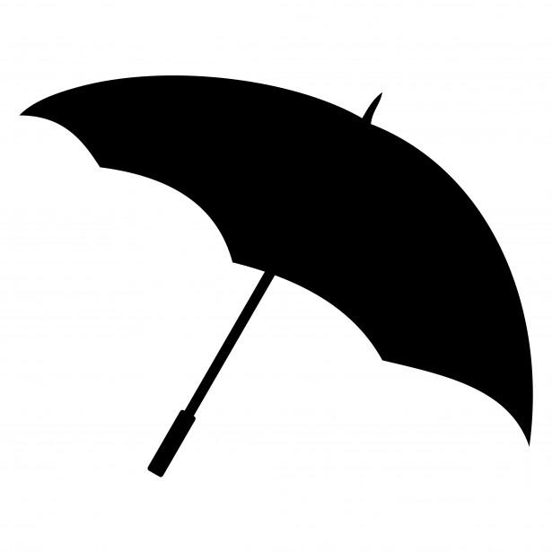 615x615 Girl With Umbrella Silhouette Clip Art