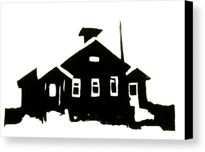 661x491 Schoolhouse Silhouette Canvas Print Canvas Art By Chris Devries