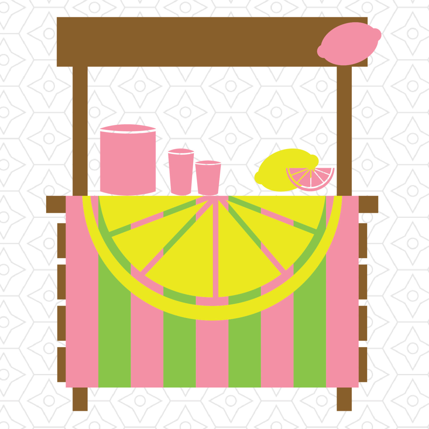 1500x1500 Lemonade Stand Decal Design, Svg, Dxf Vector Files For Use