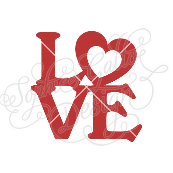 570x570 Love Valentine Word Typography Svg Dxf Png Digital Download File