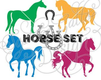 340x270 Equestrian Horse Set Svg Dxf Png Jpg Digital Download Files